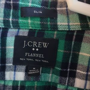 J Crew Slim Fit Flannel Shirt